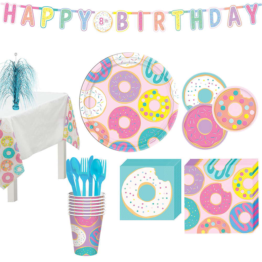 Donut Party Tableware Kit for 8 Guests Image #1