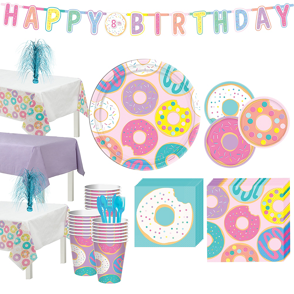 Donut Party Tableware Kit for 24 Guests Image #1