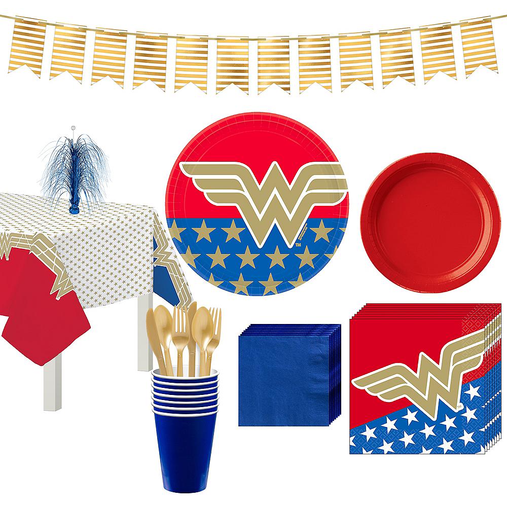 Wonder Woman Tableware Kit for 8 Guests Image #1
