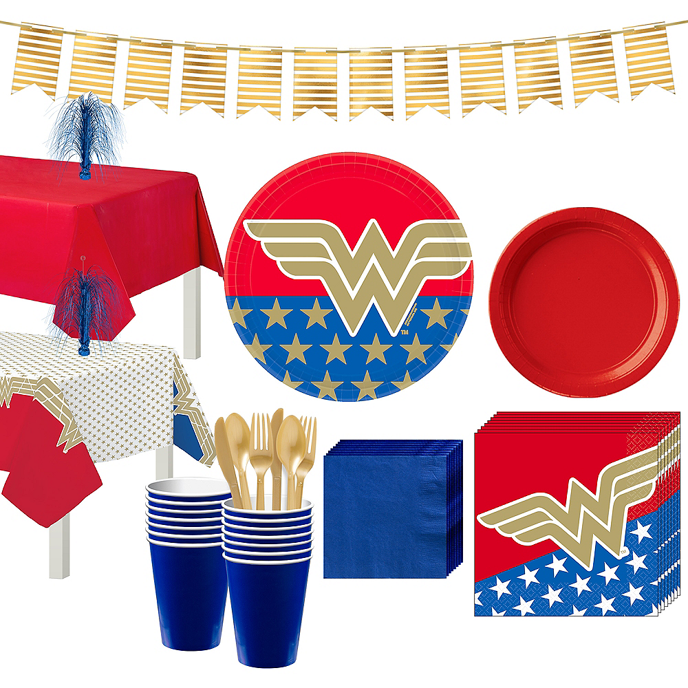 Wonder Woman Tableware Kit for 16 Guests Image #1