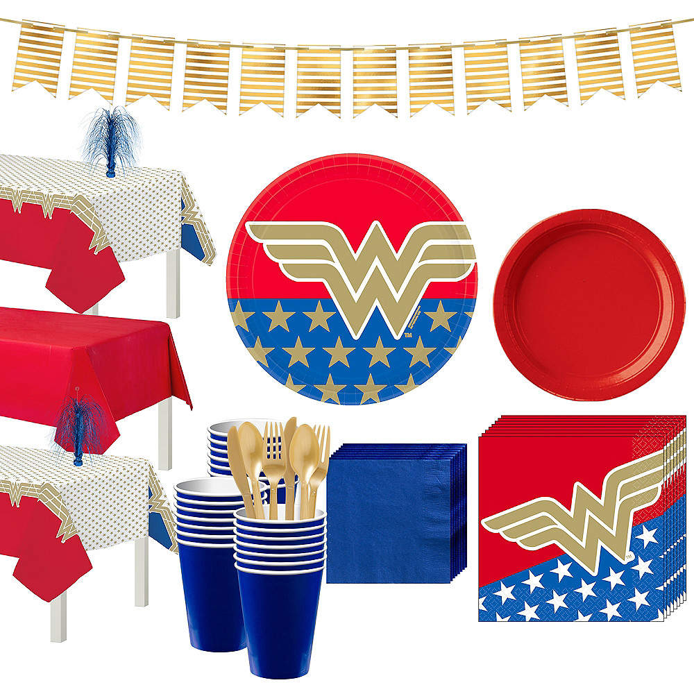 Wonder Woman Tableware Kit for 24 Guests Image #1