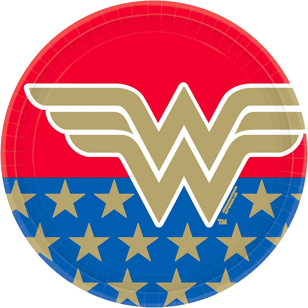 Wonder Woman Tableware Kit for 24 Guests Image #3