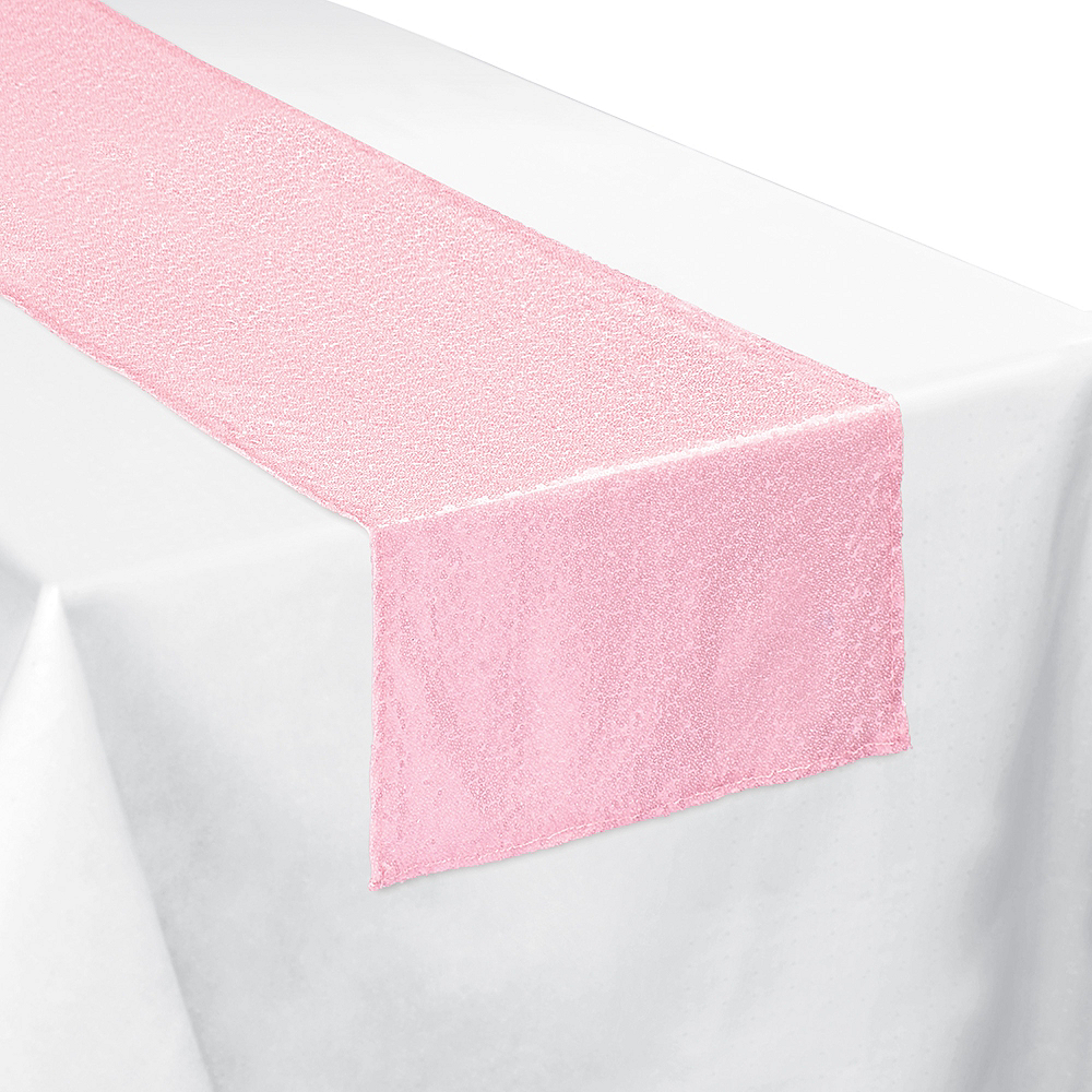 Pretty Pastels Sequin Fabric Table Runner Image #1