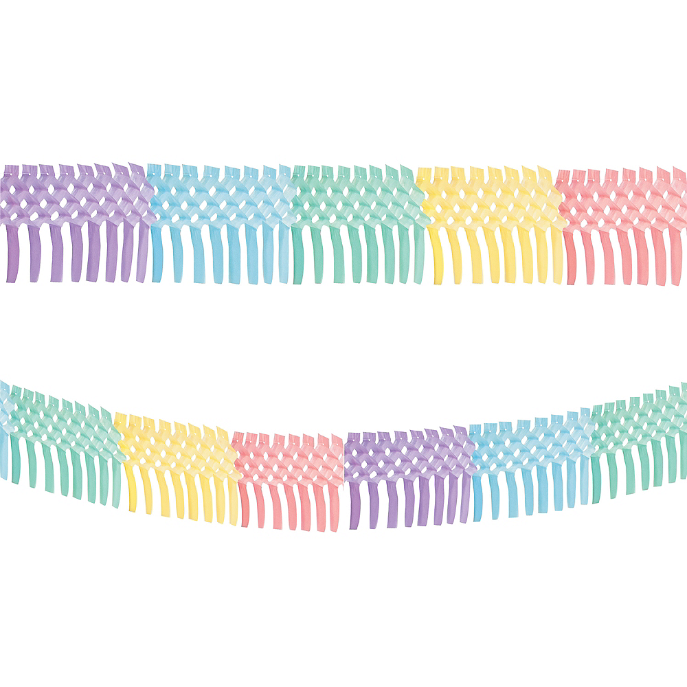 Pretty Pastels Accordion Tissue Paper Garland Image #1