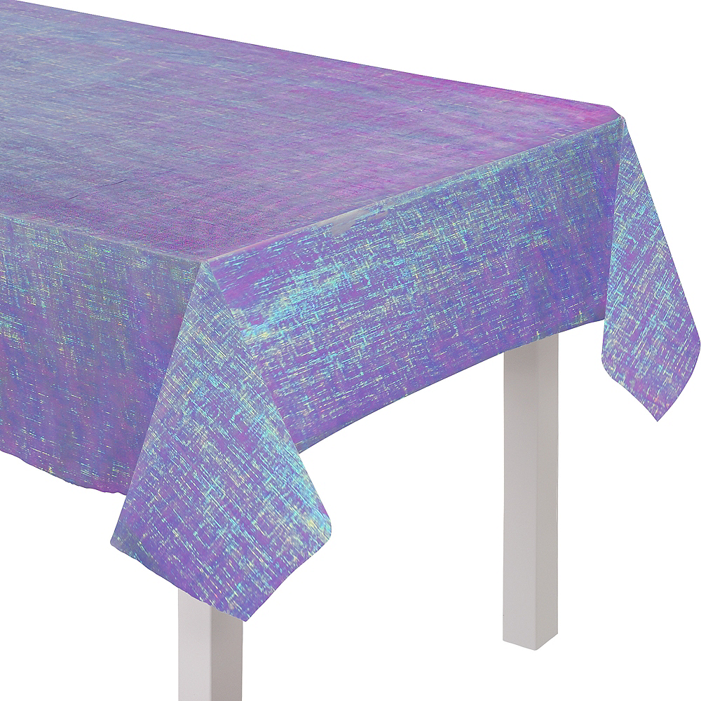 Sparkling Sapphire Opalescent Table Cover Image #1