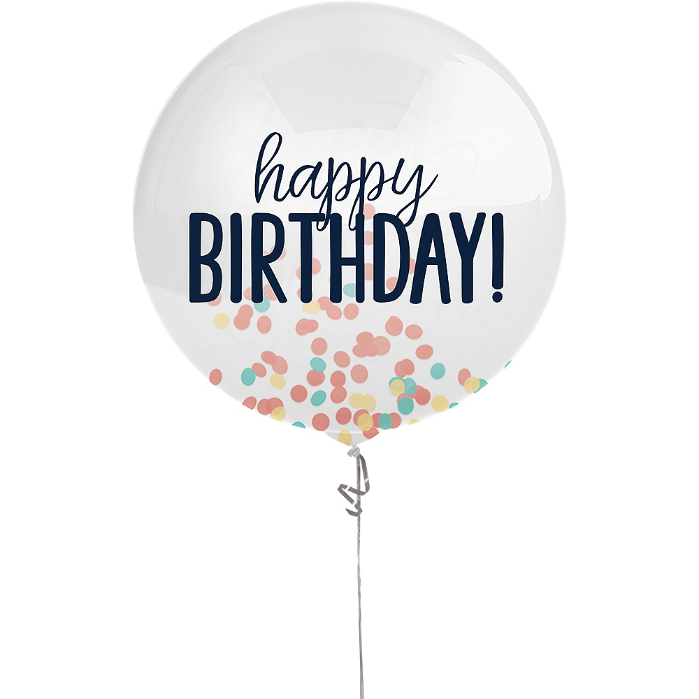 Happy Birthday Rainbow Confetti Balloon Image #1