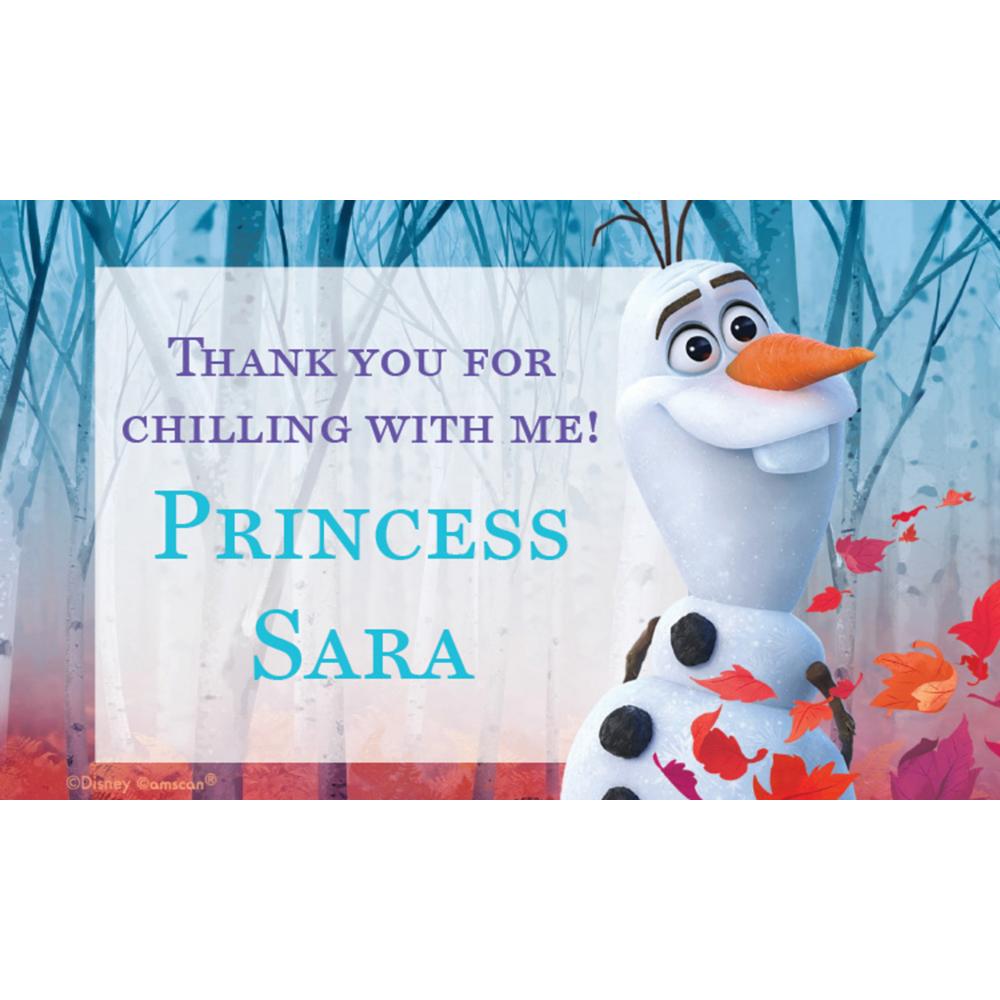 Custom Frozen 2 Thank You Notes Image #1