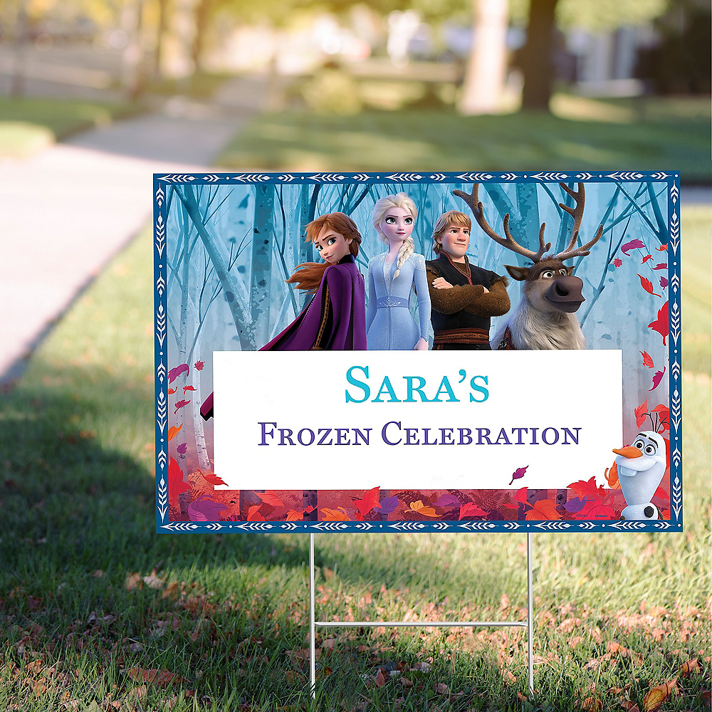 Custom Frozen 2 Yard Sign Image #1