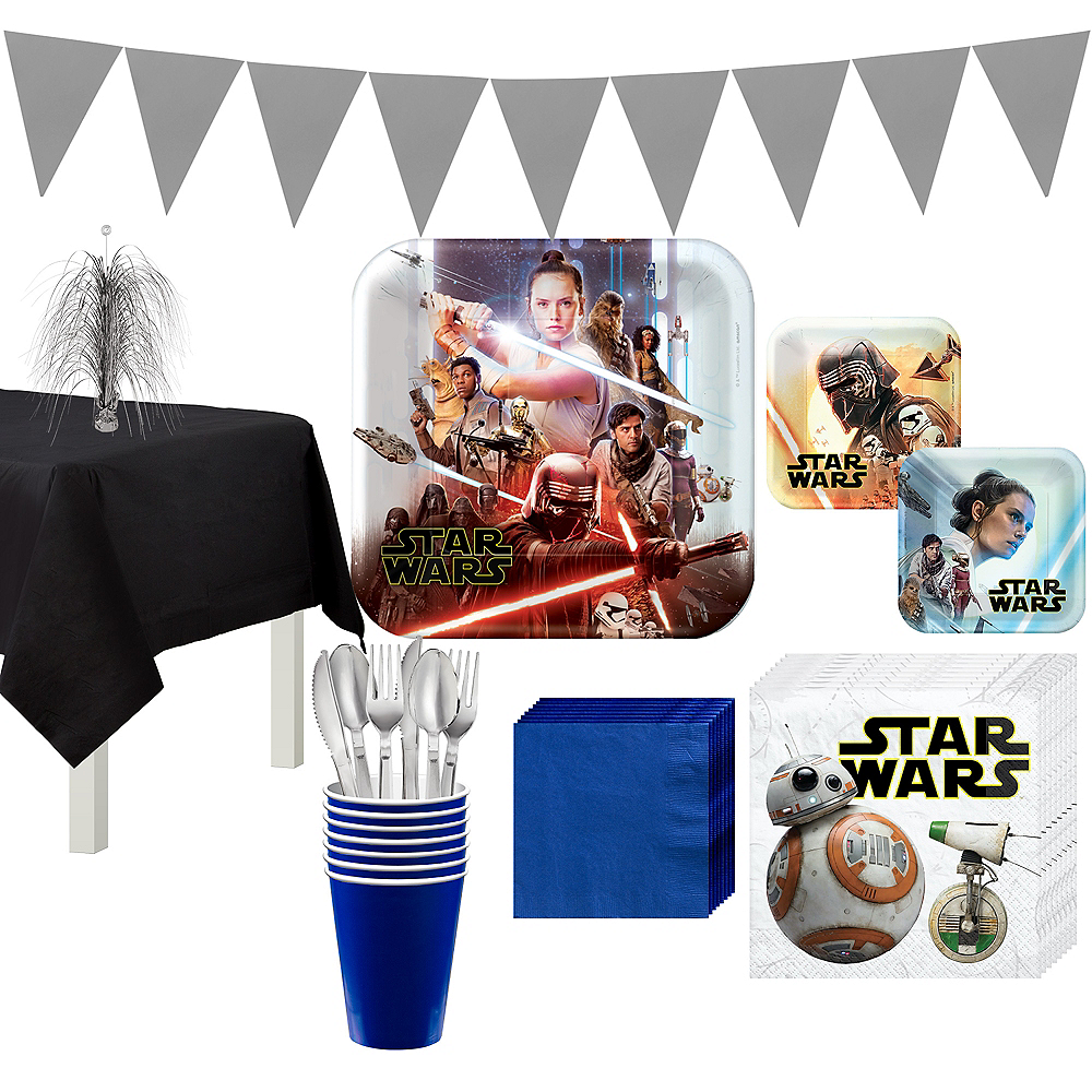 Star Wars 9 The Rise of Skywalker Tableware Kit for 8 Guests Image #1