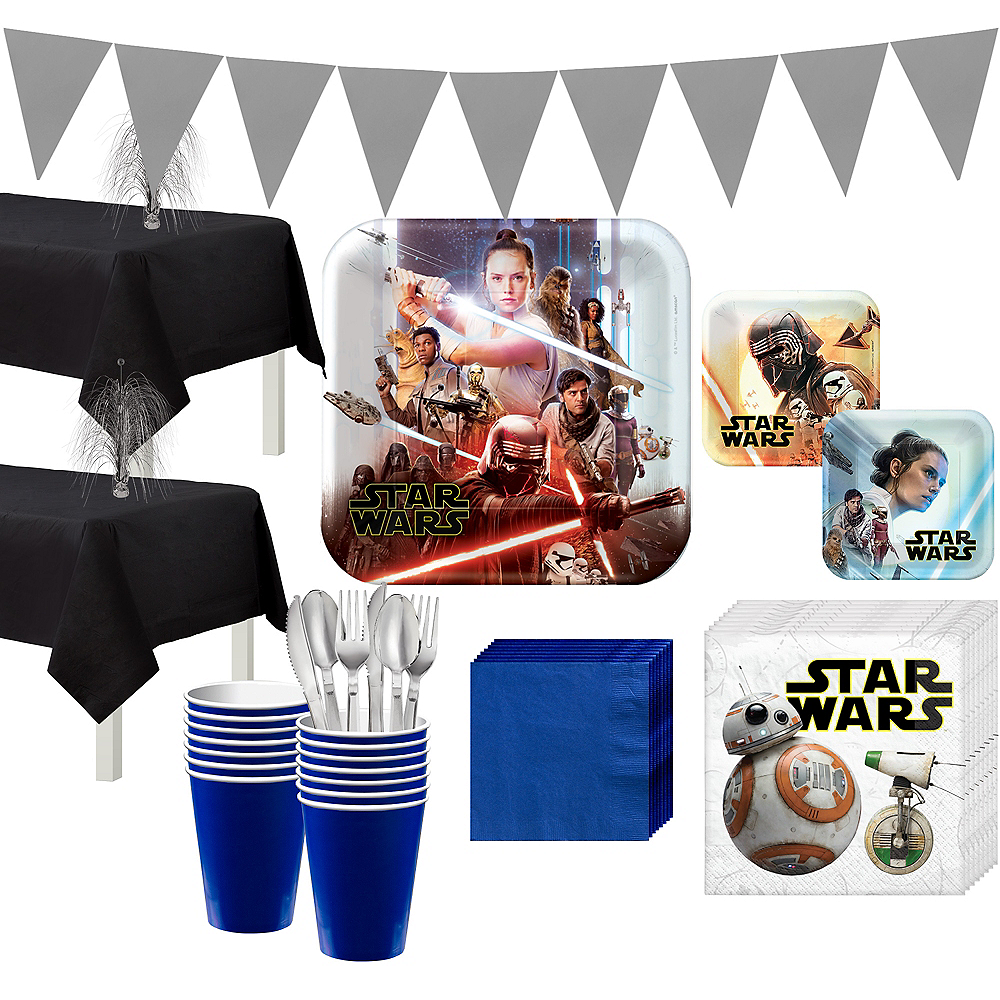 Star Wars 9 The Rise of Skywalker Tableware Kit for 16 Guests Image #1
