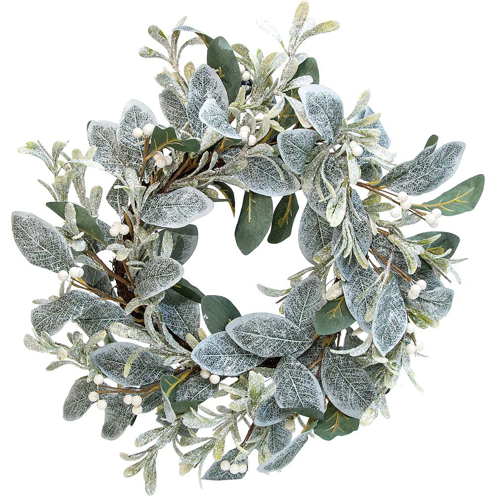 Glitter & Green Mistletoe Wreath Image #1
