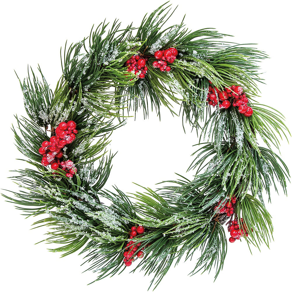 Frosted Pine Berries Wreath Image #1