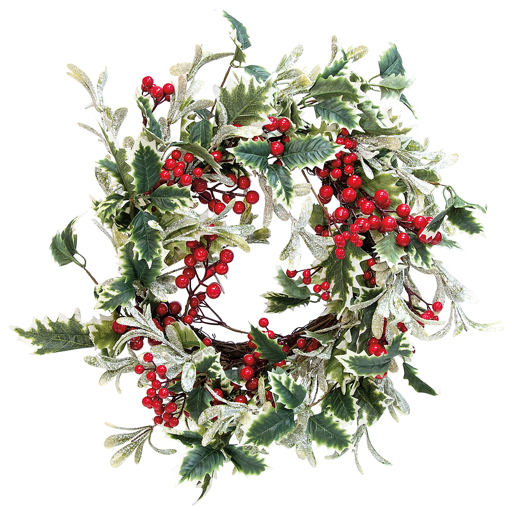 Image result for holly and ivy wreath