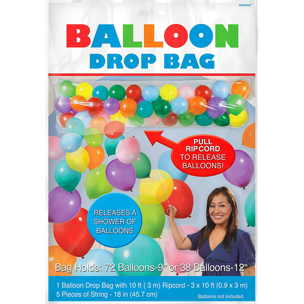 Air-Filled Black & Gold Balloon Drop Kit Image #4