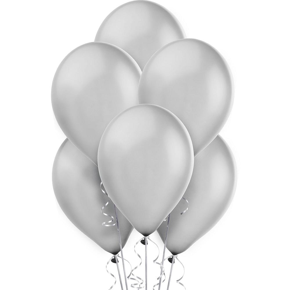 Air-Filled Black & Silver Balloon Drop Kit Image #3