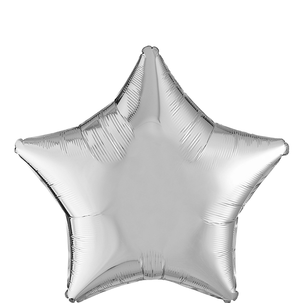 Air-Filled Gold & Silver 2020 Star Balloon Kit Image #3
