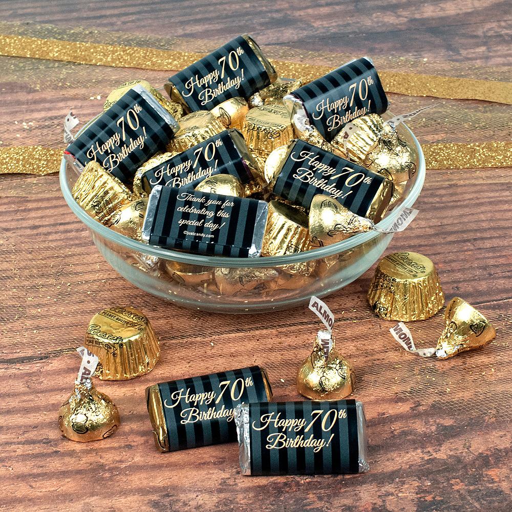 Milestone 70th Birthday Hershey's Chocolate Mix 180pc Image #1