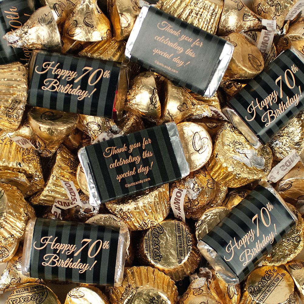 Milestone 70th Birthday Hershey's Chocolate Mix 180pc Image #3