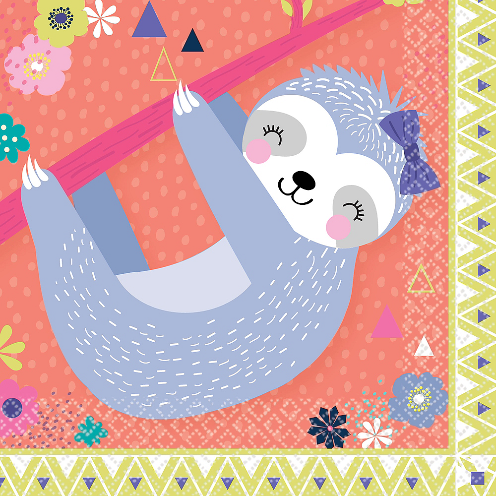 Nav Item for Sloth Party Beverage Napkins 16ct Image #1