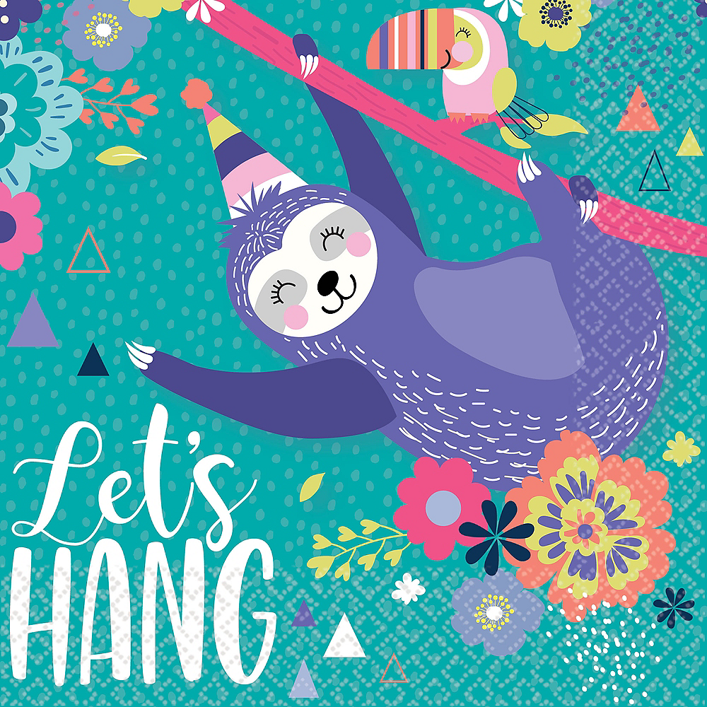 Sloth Party Lunch Napkins 16ct Image #1