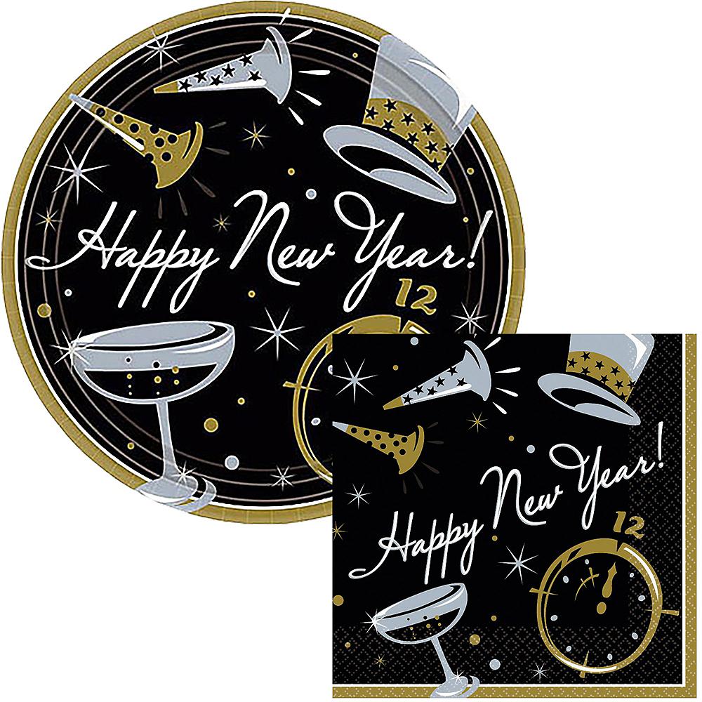 Black Tie New YearDessert Tableware Kit for 50 Guests Image #1