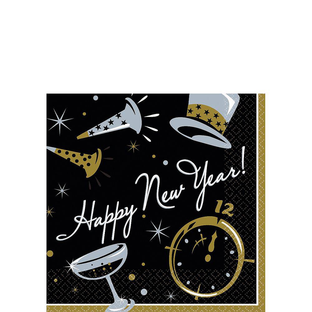 Black Tie New YearDessert Tableware Kit for 50 Guests Image #3