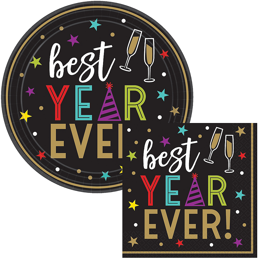 Best Year Ever Dessert Tableware Kit for 60 Guests Image #1