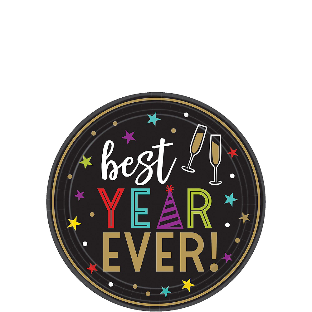 Best Year Ever Dessert Tableware Kit for 60 Guests Image #2