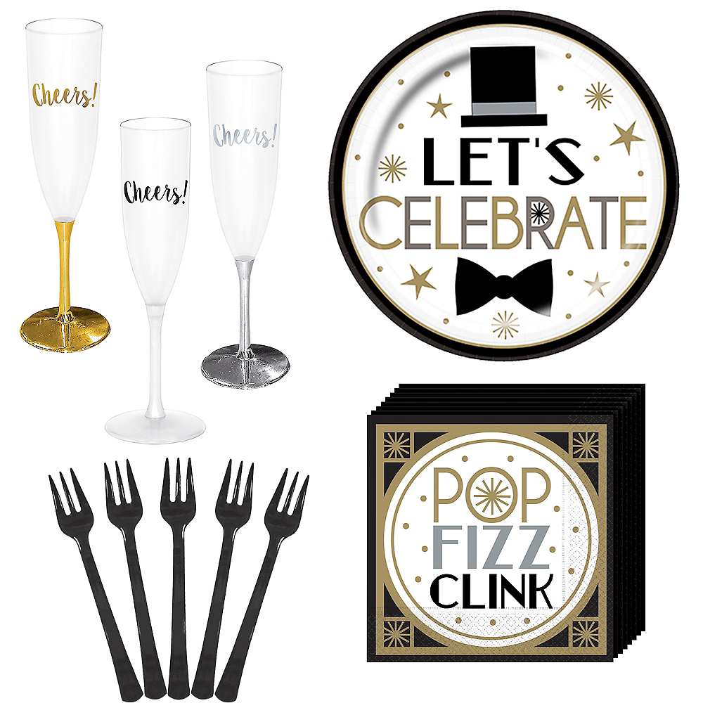 Dapper Night Let's Celebrate New Year's Eve Appetizer Kit for 24 Guests Image #1