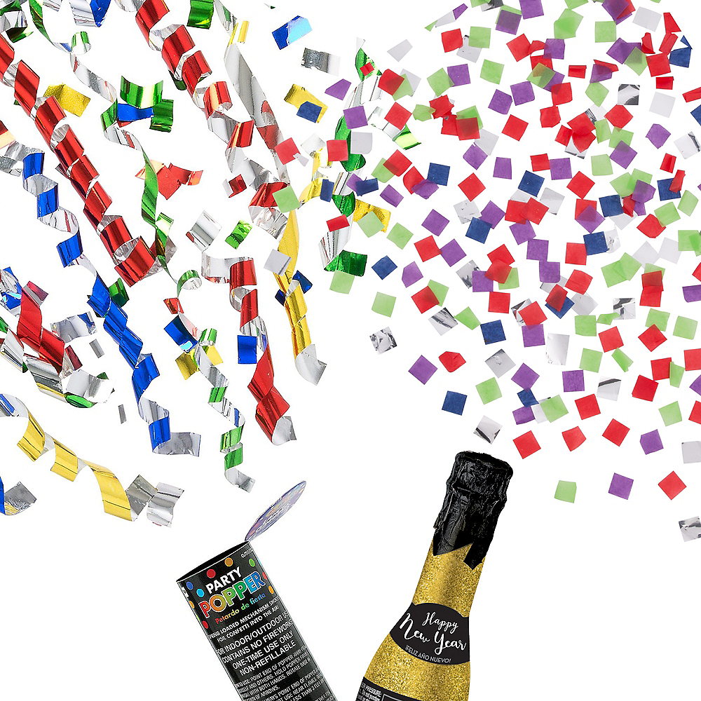 New Year's Eve Confetti Popper Kit Image #1