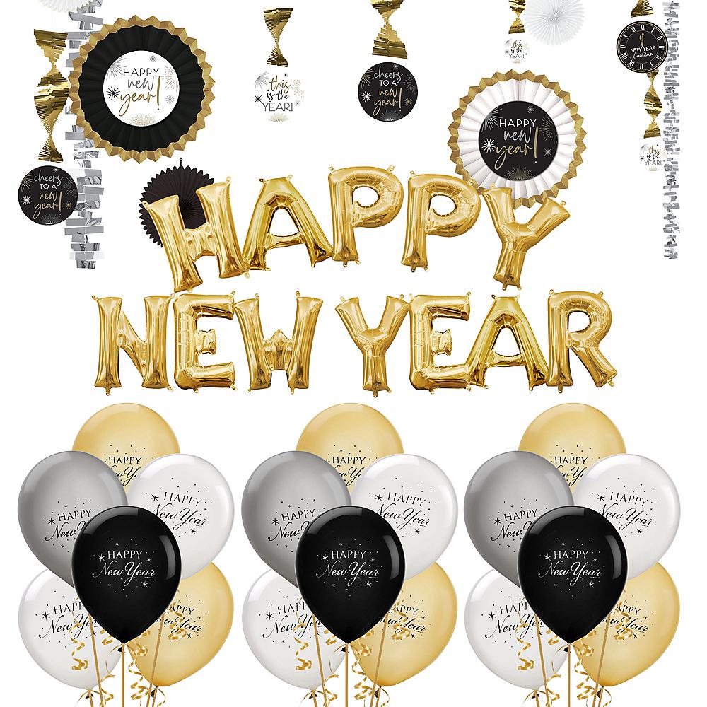 Gold Happy New Year Balloon Kit Image #1