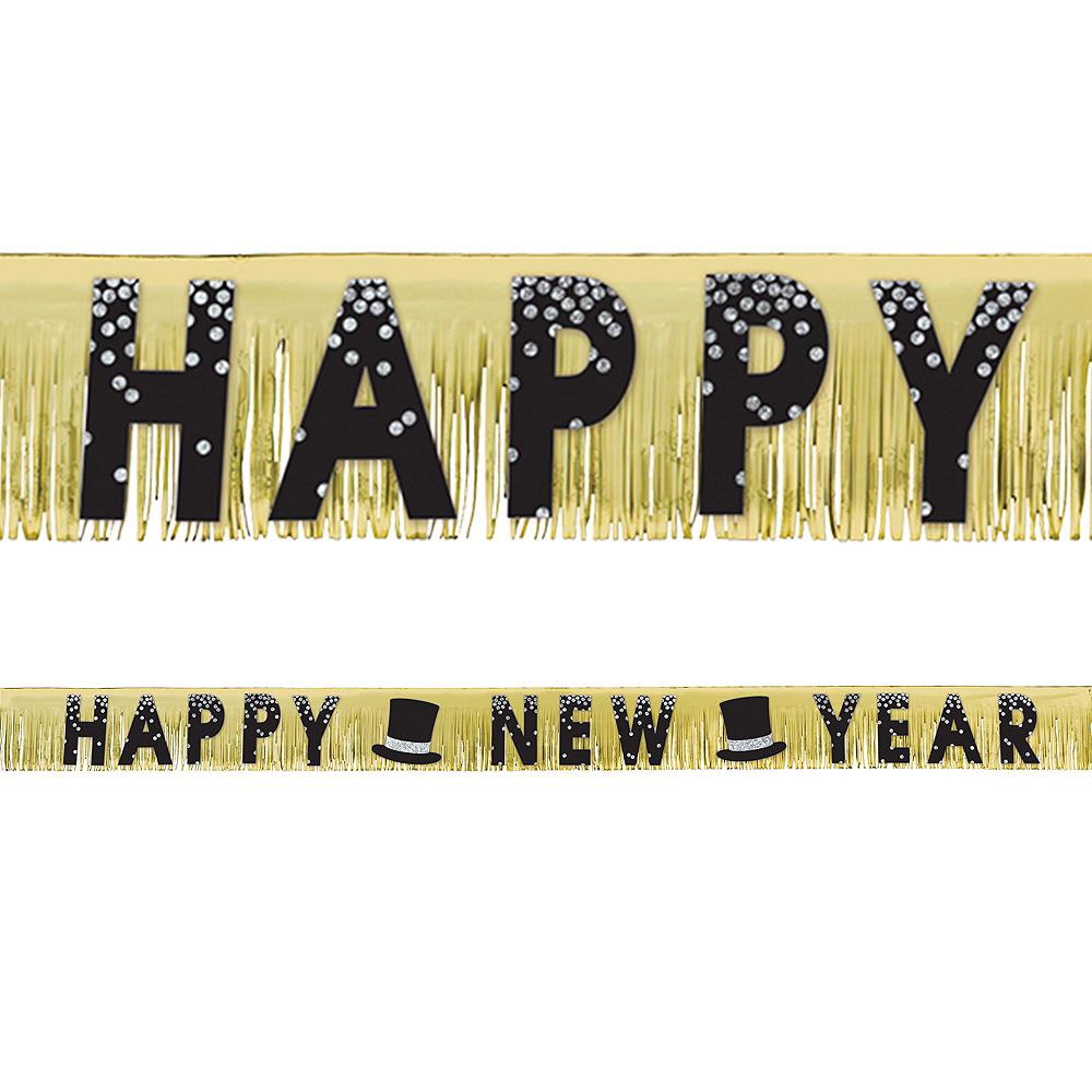 Black & Gold New Year's Eve Balloon Backdrop Kit Image #2