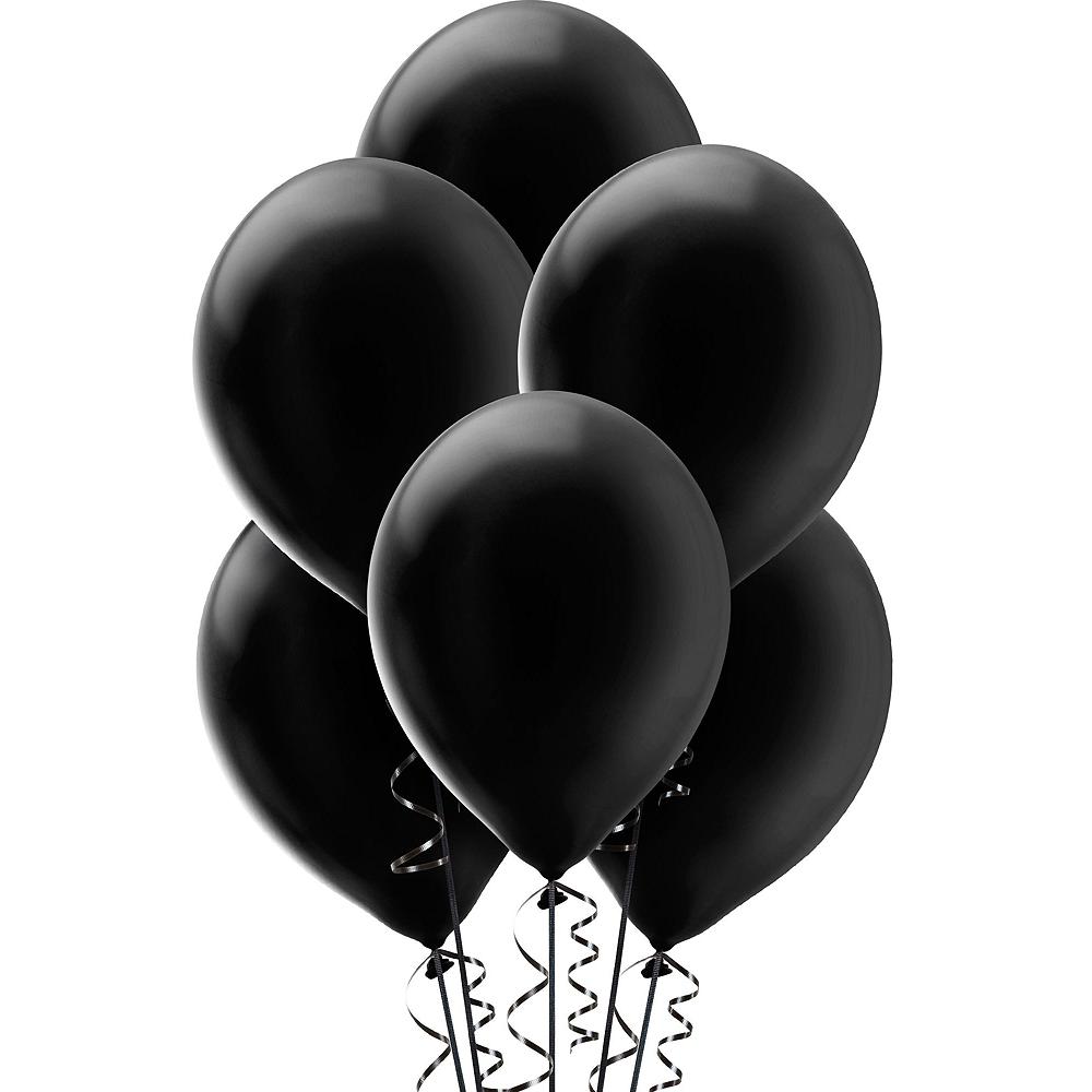 Black & Gold New Year's Eve Balloon Backdrop Kit Image #4