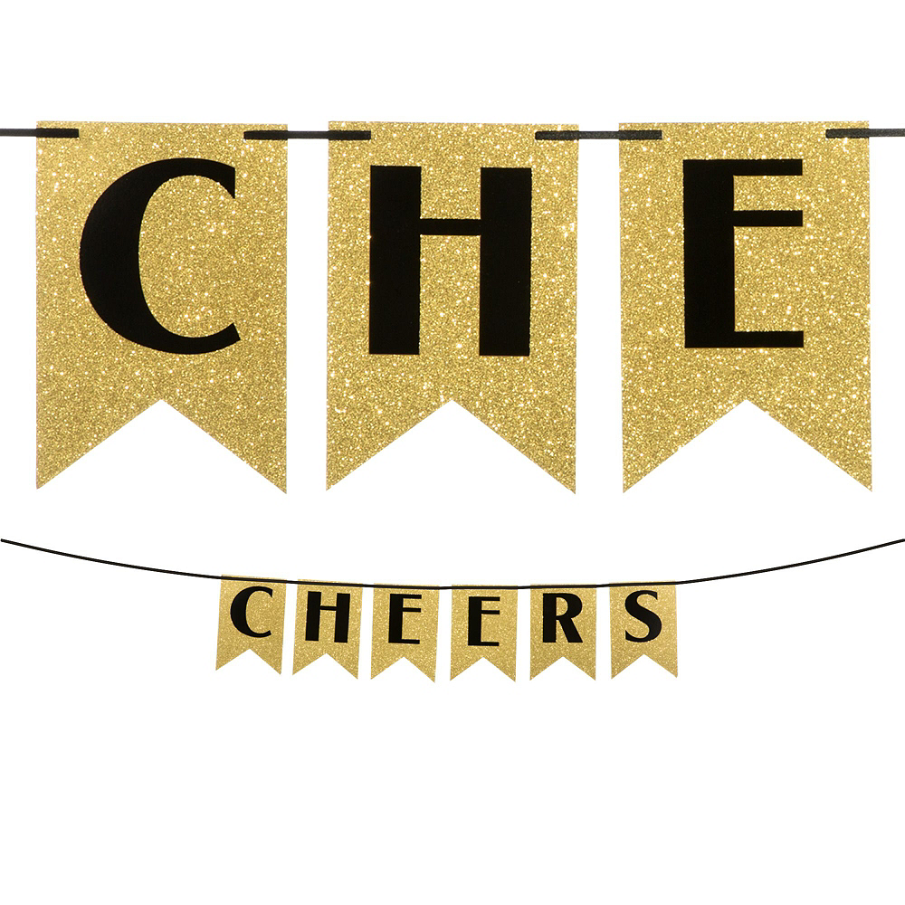Black & Gold Cheers to a New Year Banner Kit Image #2