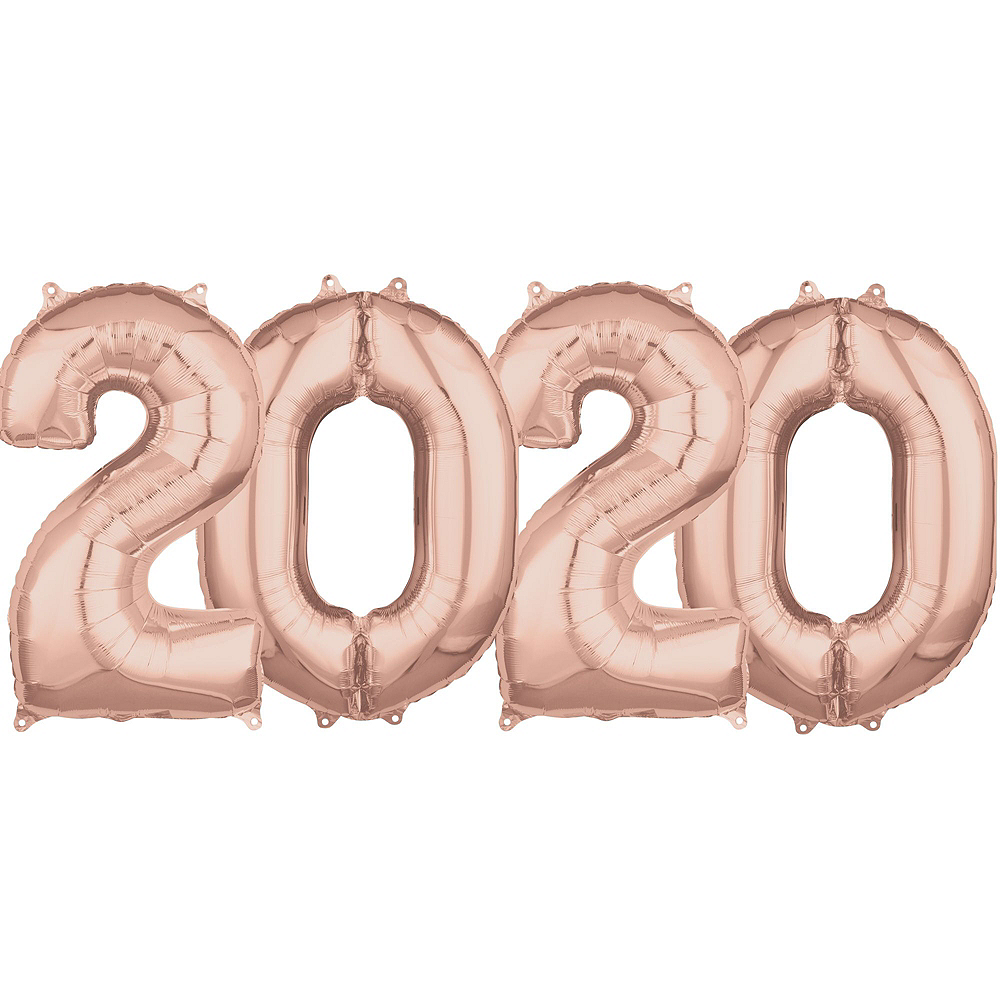 Rose Gold New Year's Eve Balloon Backdrop Kit Image #4