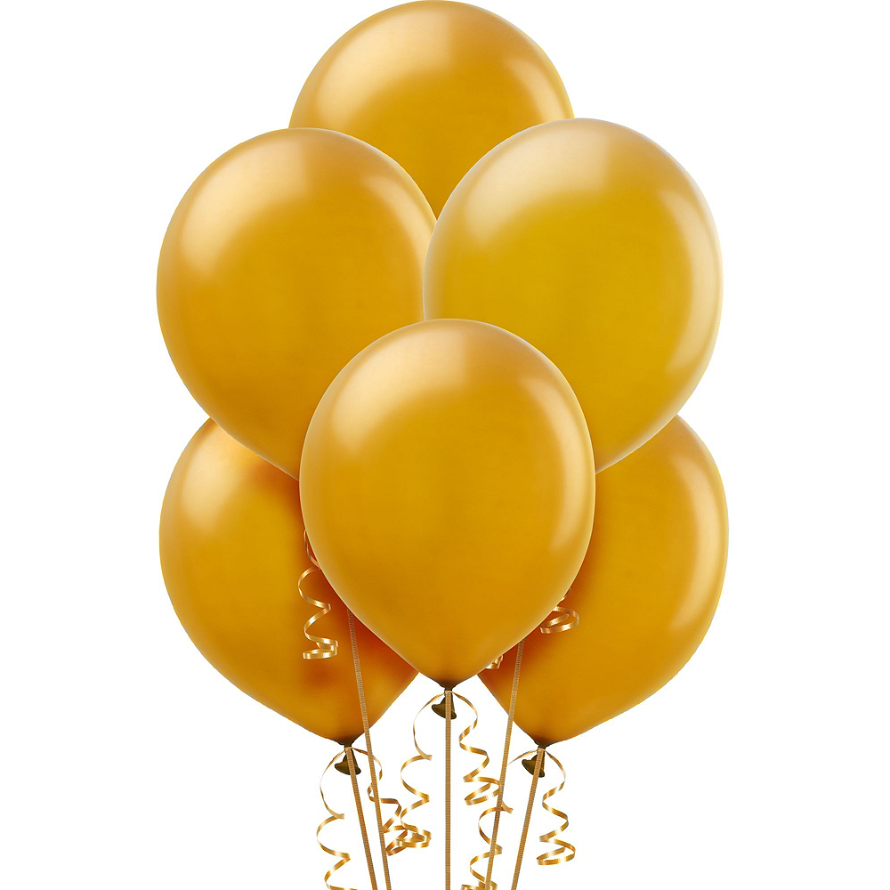 Air-Filled Gold Champagne New Year's Eve Balloon Kit Image #2