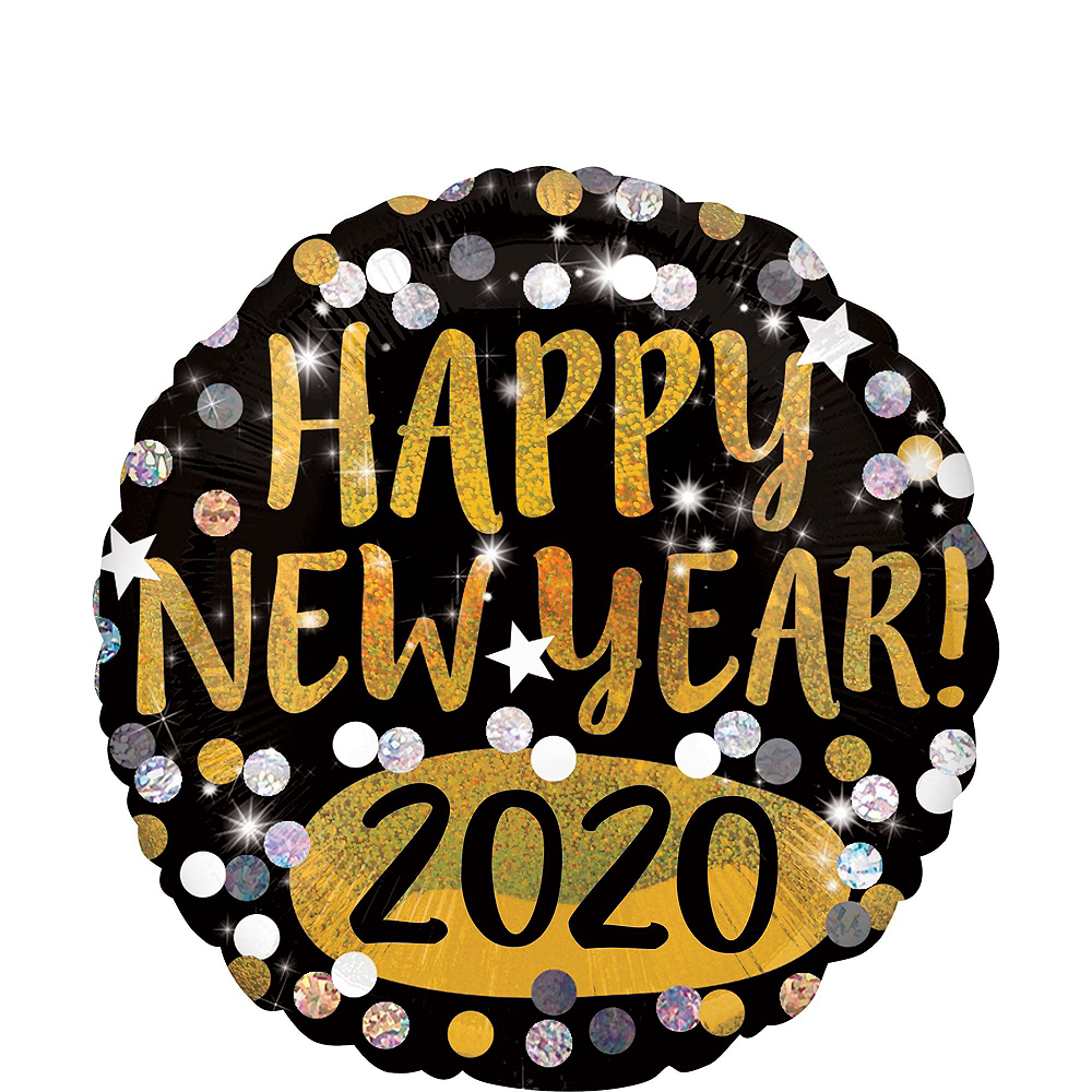 Black, Gold & Silver Star New Year's Eve Balloon Kit Image #3