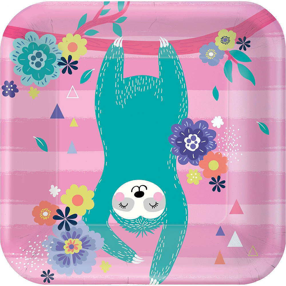 Sloth Party Tableware Kit for 8 Guests Image #2