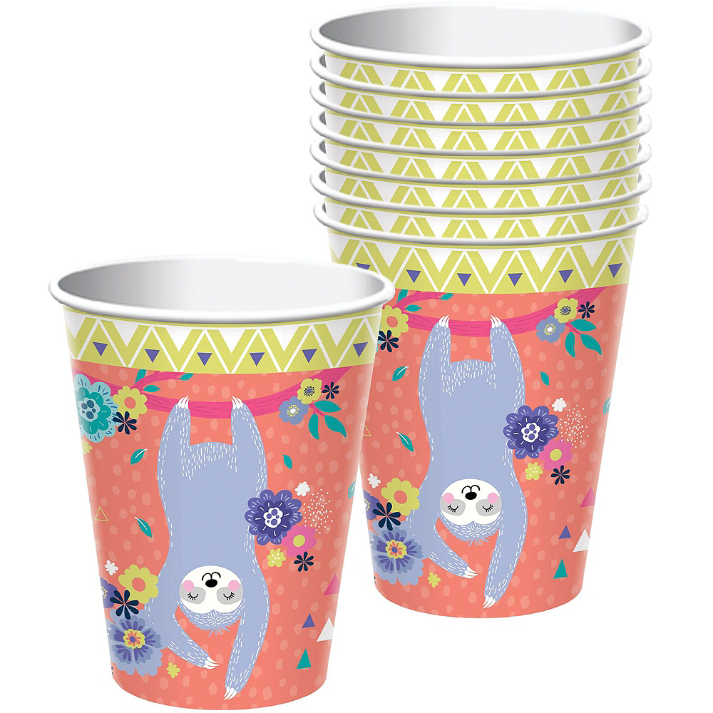Sloth Party Tableware Kit for 8 Guests Image #6