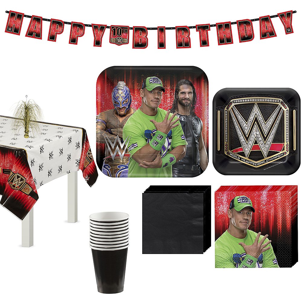 WWE Champion Tableware Kit for 8 Guests Image #1