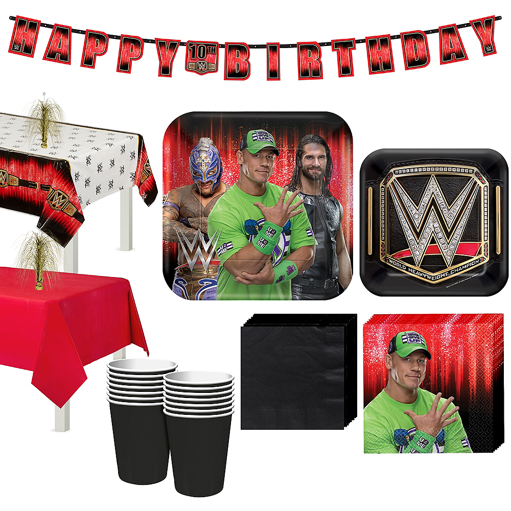 WWE Champion Tableware Kit for 16 Guests Image #1