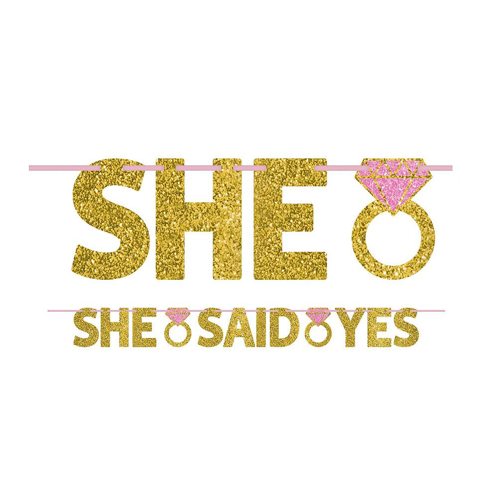 She Said Yes Bridal Shower Decorating Kit Image #2