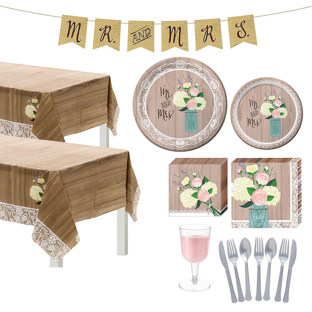 Rustic Bridal Shower Tableware Kit for 50 Guests Image #1