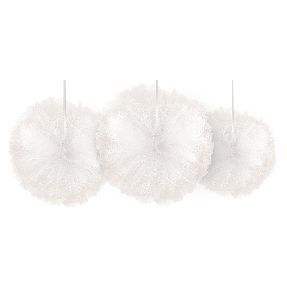 Gold, Pink & Silver Tulle Pom-Pom Decorating Kit Image #2