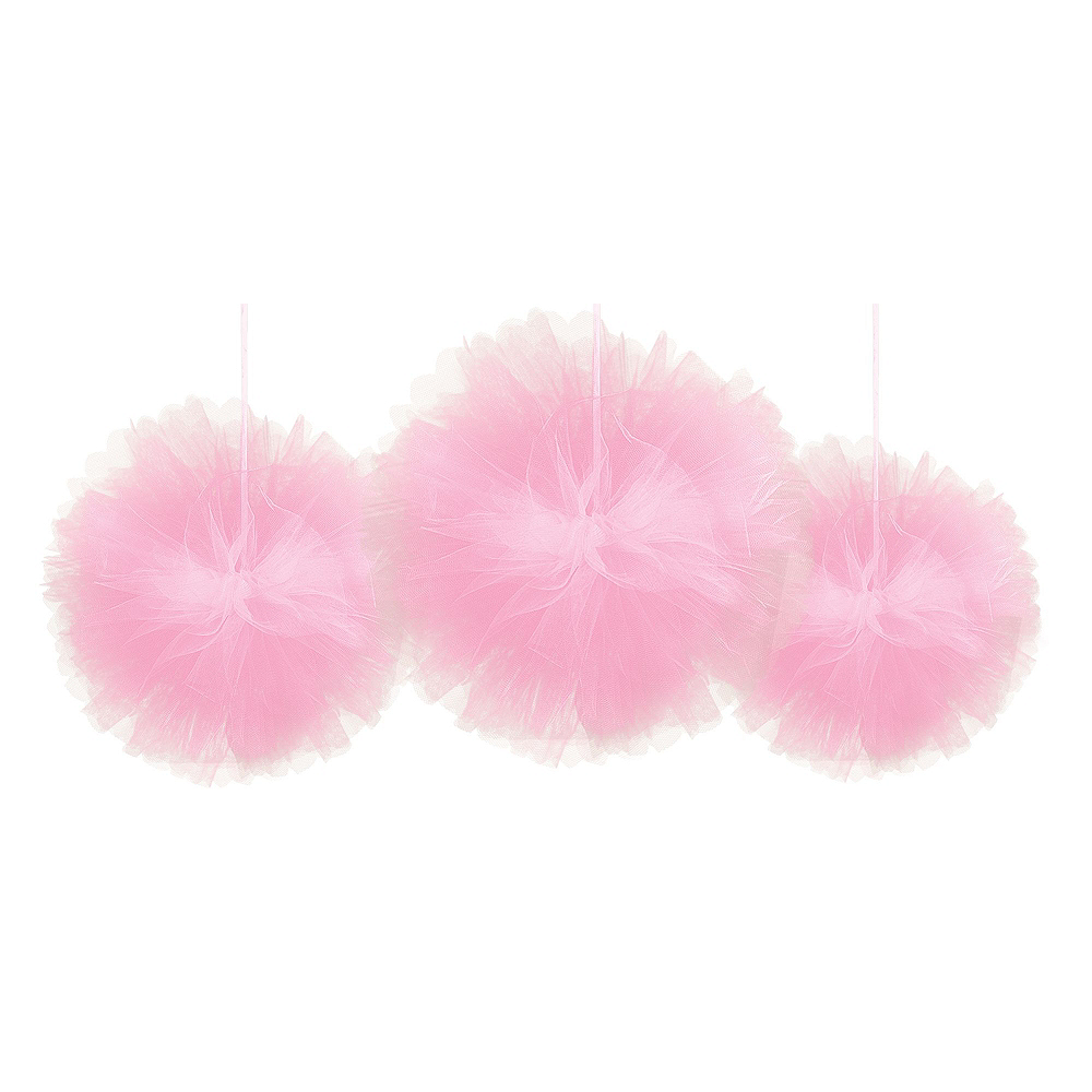 Gold, Pink & Silver Tulle Pom-Pom Decorating Kit Image #3