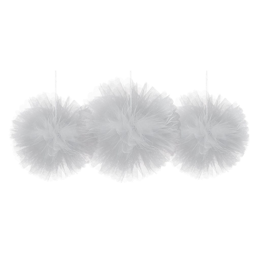 Gold, Pink & Silver Tulle Pom-Pom Decorating Kit Image #4