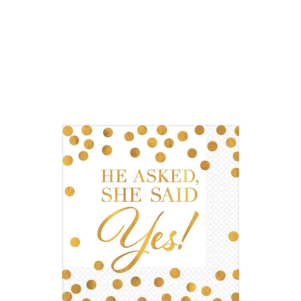Metallic Gold Bridal Shower Tableware Kit for 50 guests Image #2