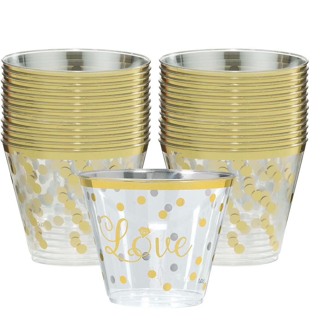 Metallic Gold Bridal Shower Tableware Kit for 50 guests Image #3