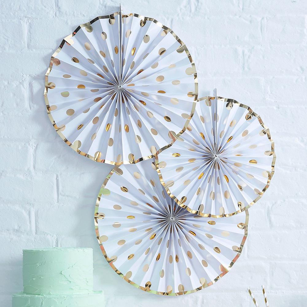 Metallic Gold Bridal Shower Tableware Kit for 50 guests Image #5