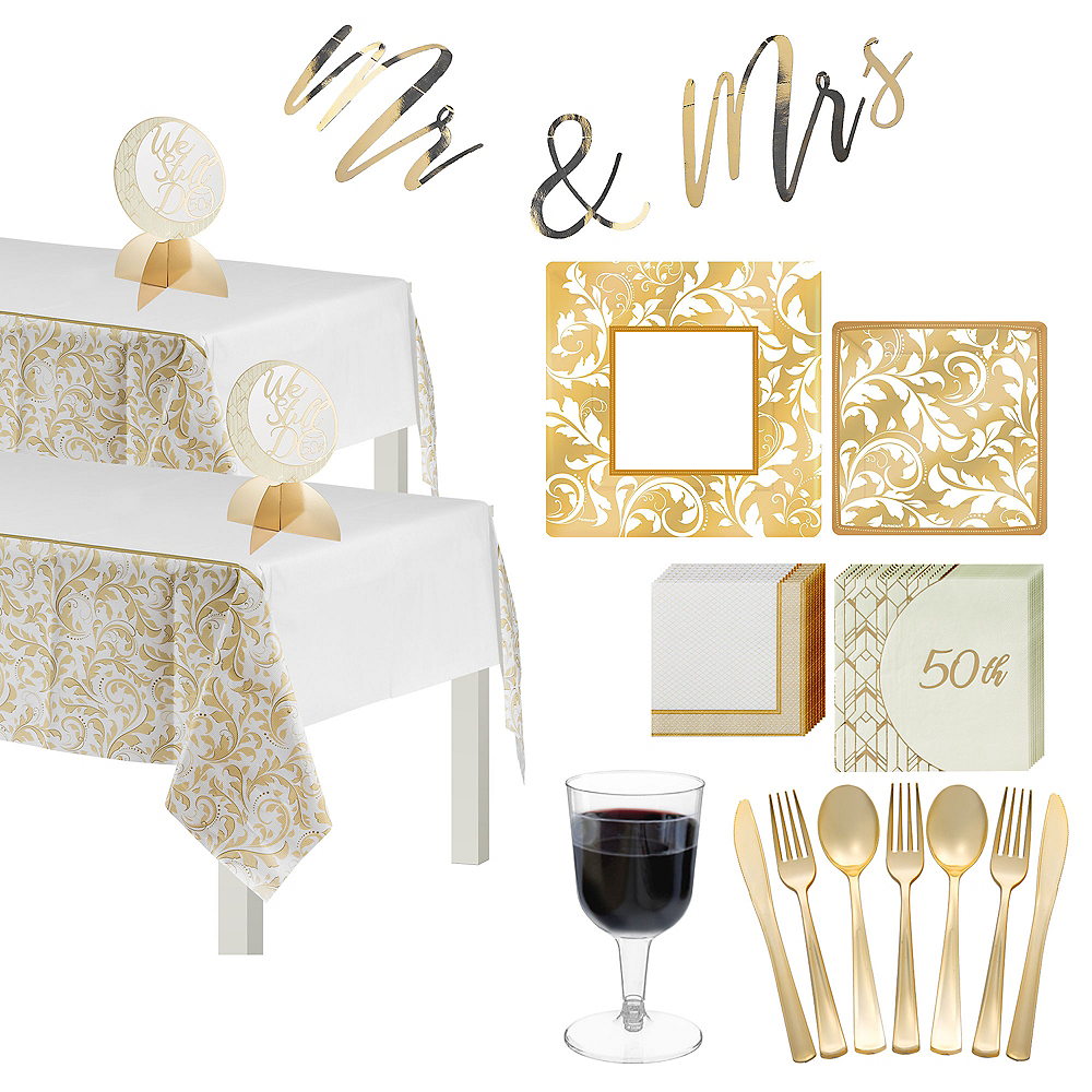 Gold Wedding Tableware Kit for 50 Guests Image #1